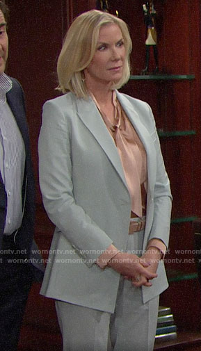 Brooke's mint green suit on The Bold and the Beautiful