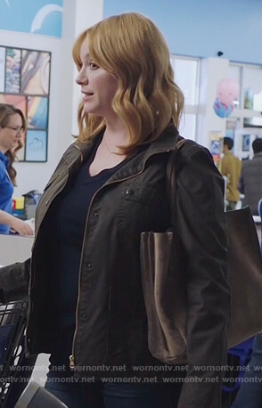 Beth's brown utility jacket on Good Girls
