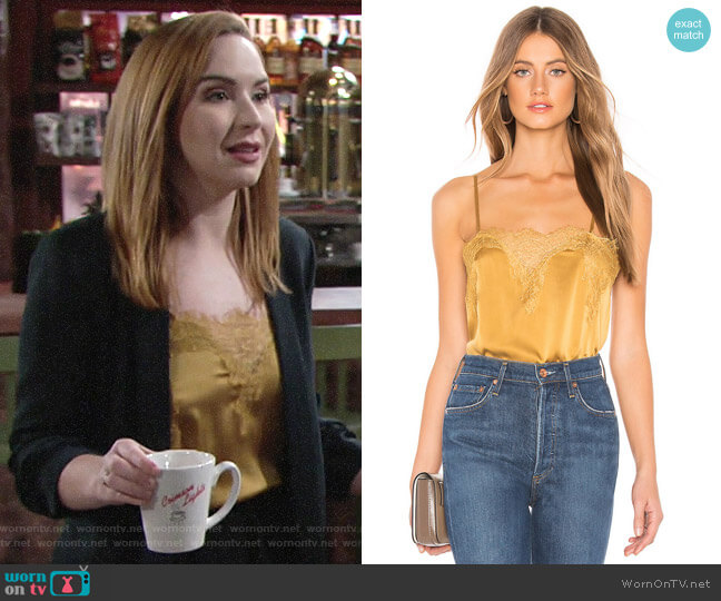 Cami NYC The Sweetheart Charmeuse Cami  worn by Mariah Copeland (Camryn Grimes) on The Young & the Restless