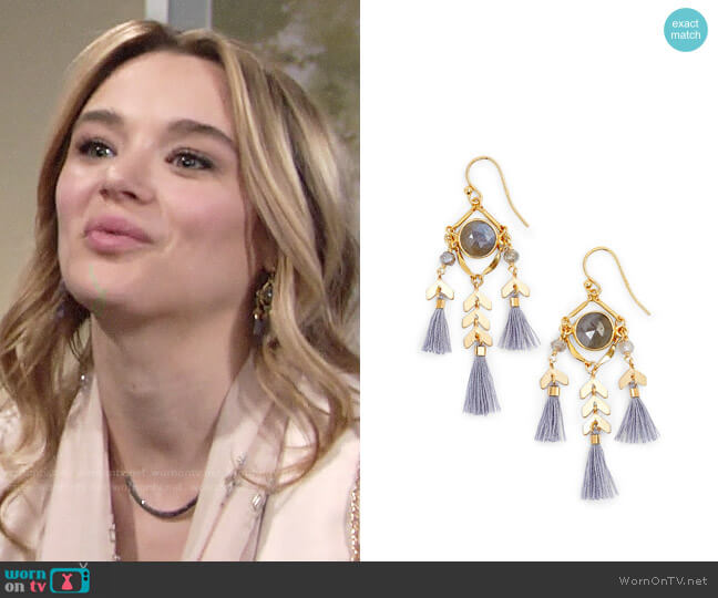 Chan Luu Tassel Drop Earrings worn by Summer Newman (Hunter King) on The Young & the Restless