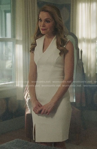Charity's white v-neck dress on Charmed