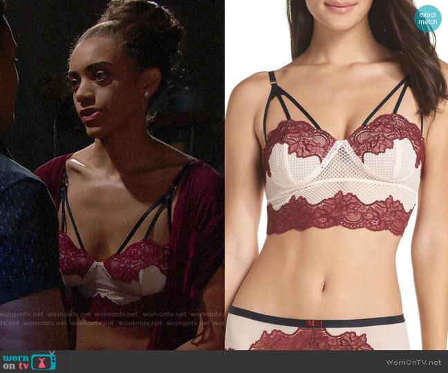 Chelsea28 Show-Off Longline Bralette worn by Zoe (Kiara Barnes) on The Bold & the Beautiful
