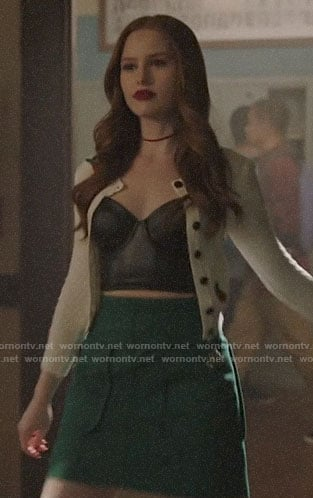Cheryl's cherry embroidered cardigan on Riverdale