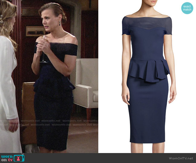 Chiara Boni La Petite Robe Nabelle Dress worn by Phyllis Newman (Gina Tognoni) on The Young & the Restless