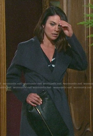Chloe's grey wrap coat on Days of our Lives