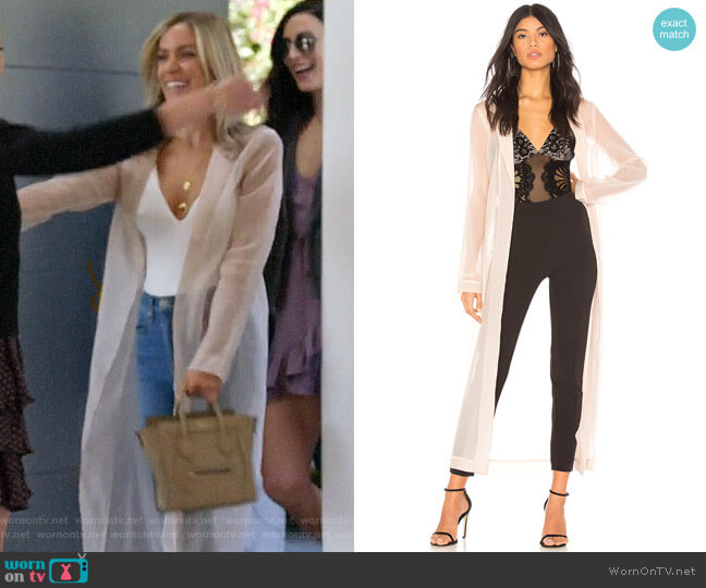 Chrissy Teigan x Revolve Muse Duster worn by Kristin Cavallari (Kristin Cavallari) on Very Cavallari