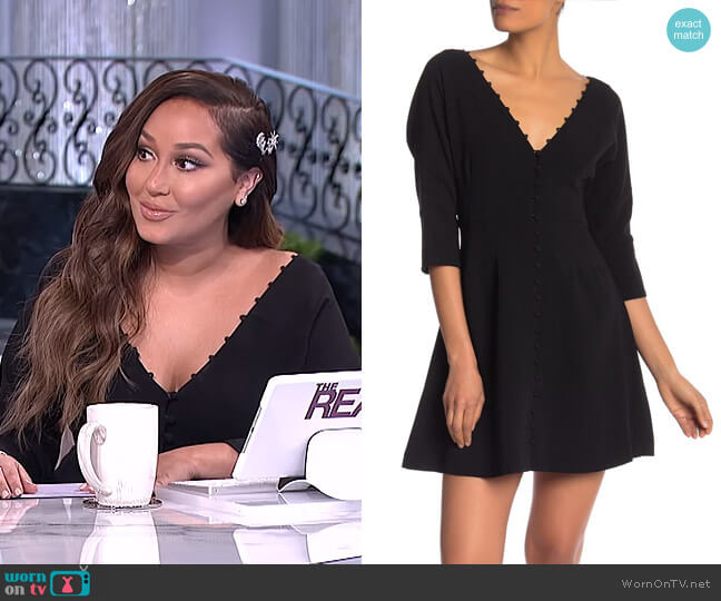 Joslyn Dress by Cinq a Sept worn by Adrienne Houghton  on The Real
