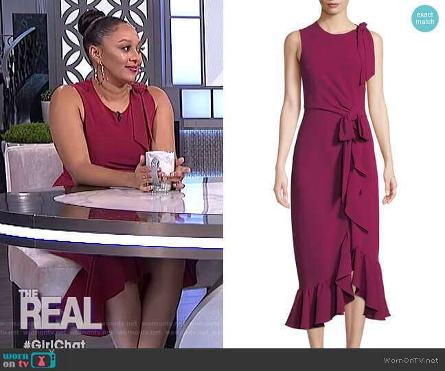 Nanon Dress by Cinq a Sept worn by Tamera Mowry  on The Real