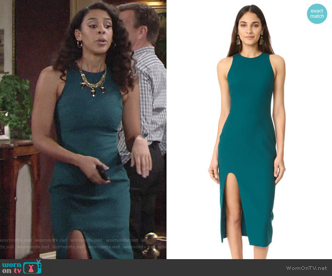 Cinq a Sept Eve Dress worn by Kerry Johnson (Alice Hunter) on The Young & the Restless