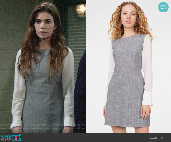 Club Monaco Deeyone Dress worn by Victoria Newman (Amelia Heinle) on The Young & the Restless