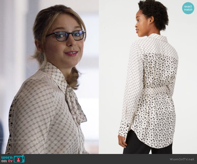 Club Monaco Farem Top worn by Kara Danvers (Melissa Benoist) on Supergirl
