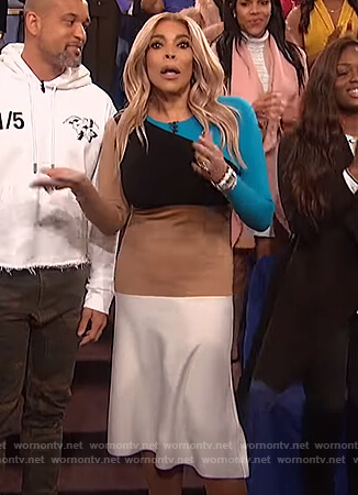 Wendy's colorblock knit dress on The Wendy Williams Show