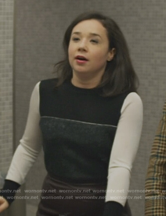 Marissa's colorblocked sweater on The Good Fight