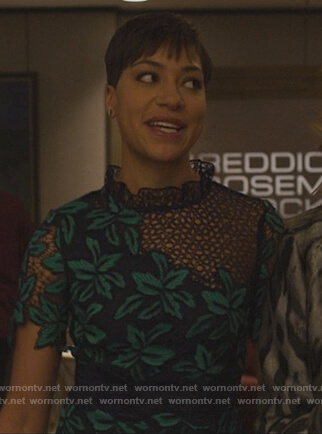 Lucca's floral crochet dress on The Good Fight