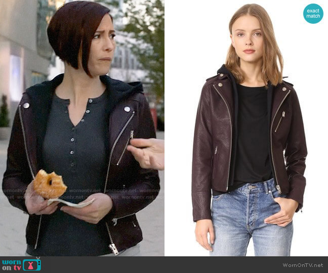 Doma Hooded Leather Jacket worn by Alex Danvers (Chyler Leigh) on Supergirl