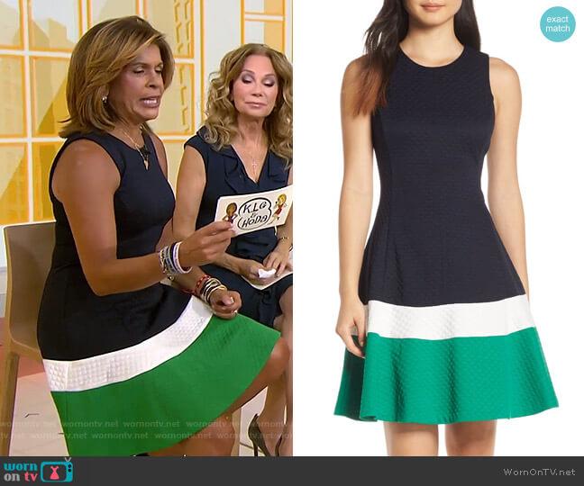 Fit & Flare Jacquard Dress by Eliza J  worn by Hoda Kotb (Hoda Kotb) on Today