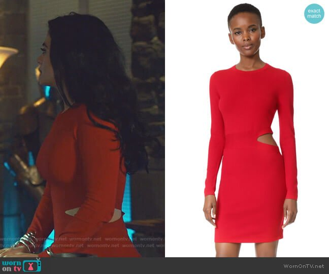 Railey Dress with Side Cutout Detail by Elizabeth and James worn by Isabelle Lightwood (Emeraude Toubia ) on Shadowhunters