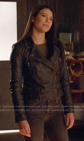 Emiko's leather jacket on Arrow