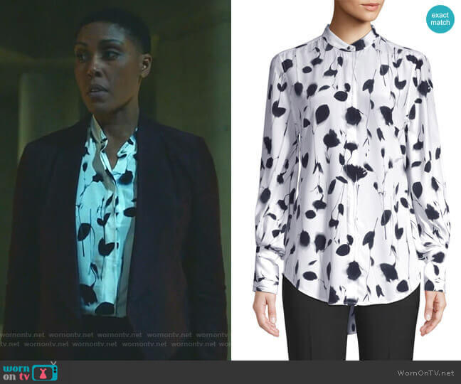 Boleyn Blouse by Equipment worn by Lynn Stewart (Christine Adams) on Black Lightning