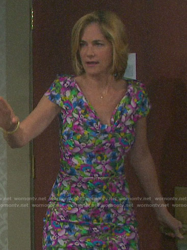 Eve's floral dress on Days of our Lives