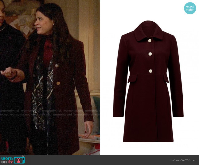 Ever New Ellie Dolly Coat worn by Mel Vera (Melonie Diaz) on Charmed