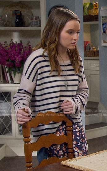 Eve's striped sweater on Last Man Standing