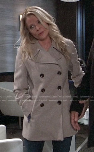 Felicia's grey peacoat on General Hospital