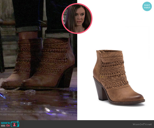 Fergalicious Wanderer Braided Boot worn by Willow Tait (Katelyn MacMullen) on General Hospital