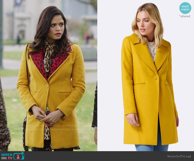Ever New Tasmin Crombie Coat worn by Mel Vera (Melonie Diaz) on Charmed