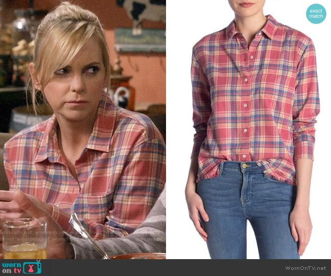 Frame True Plaid Shirt worn by Christy Plunkett (Anna Faris) on Mom
