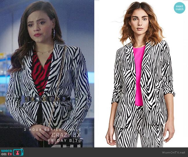 Frame Zebra Blazer worn by Maggie Vera (Sarah Jeffery) on Charmed