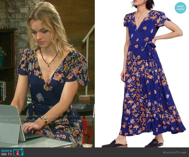Free People Gorgeous Jess Dress worn by Claire Brady (Olivia Keegan) on Days of our Lives