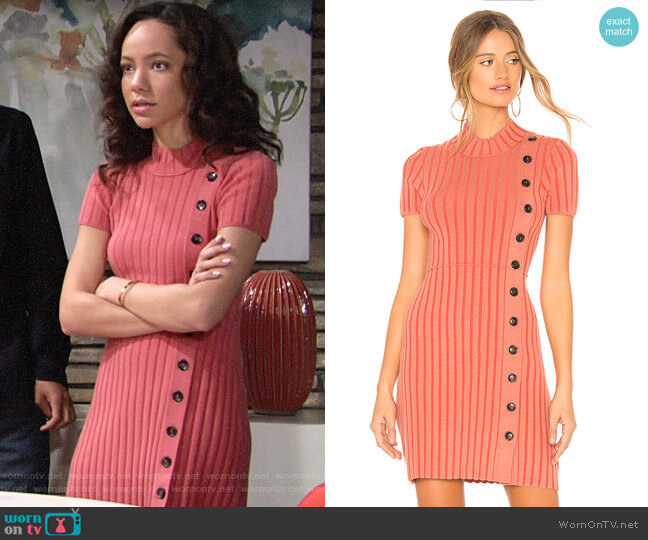 Free People Lottie Dress worn by Mattie Ashby (Lexie Stevenson) on The Young & the Restless