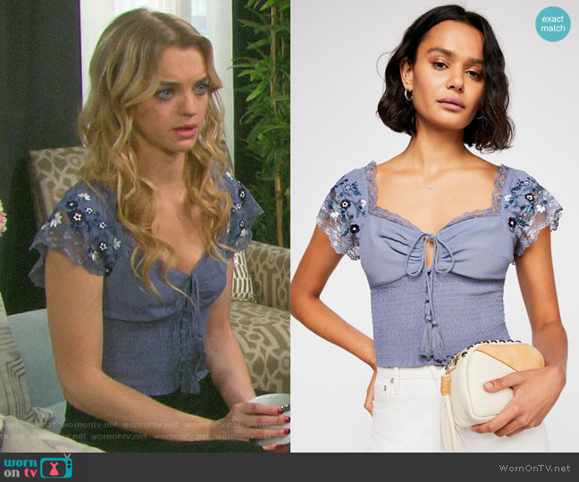 Free People True to the Heart Top worn by Claire Brady (Olivia Keegan) on Days of our Lives