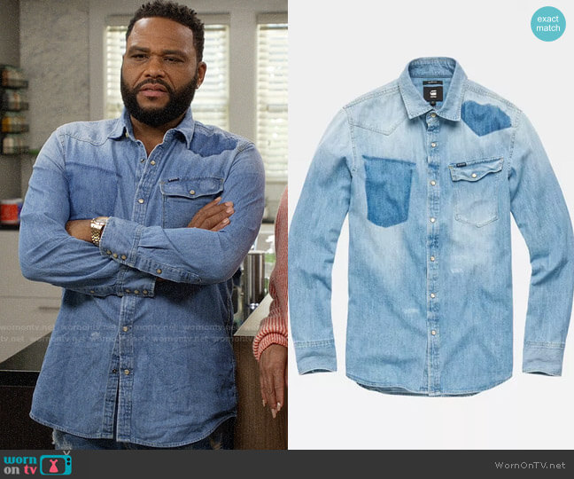 G Star Raw 3301 Slim Shirt worn by Andre Johnson (Anthony Anderson) on Blackish