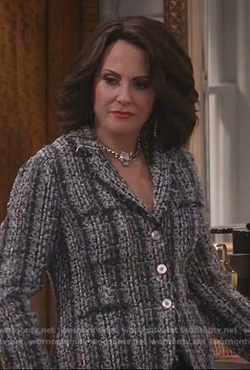 Karen's gray tweed jacket on Will and Grace