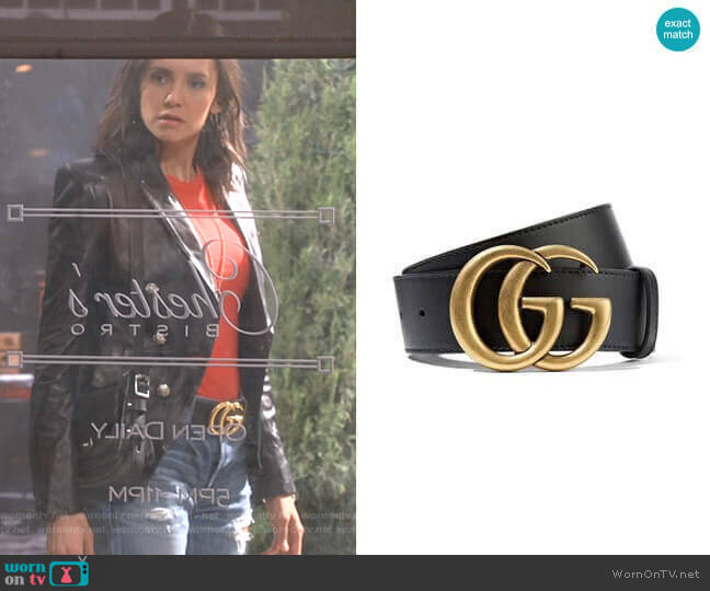 Cintura Donna Leather Belt by Gucci worn by Clem (Nina Dobrev) on Fam