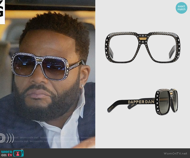 Dapper Dan Sunglasses worn by Andre Johnson (Anthony Anderson) on Blackish