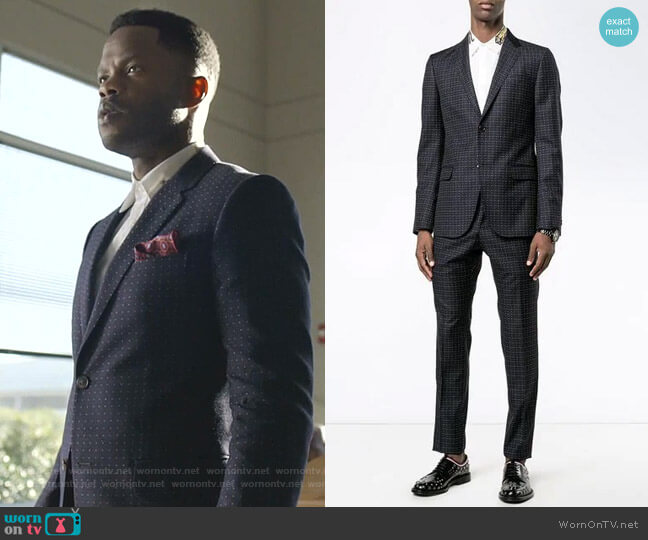 Dotted Suit by Gucci worn by Jeff Colby (Sam Adegoke) on Dynasty