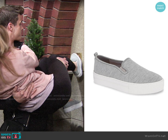 Halogen Baylee Platform Slip-On Sneaker worn by Summer Newman (Hunter King) on The Young & the Restless