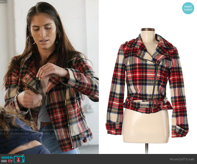 Heritage 1981 Plaid Moto Jacket worn by Brittainy Taylor  on Very Cavallari