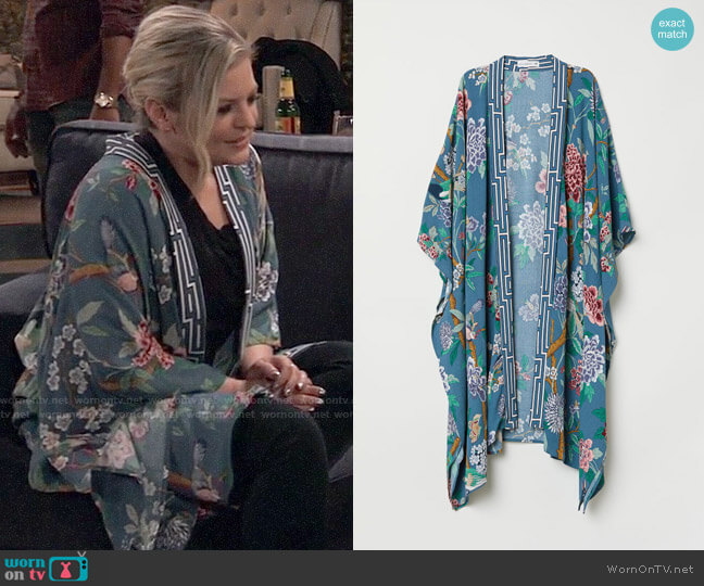 H&M Patterned Kimono worn by Maxie Jones (Kirsten Storms) on General Hospital
