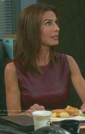 Hope's red leather top on Days of our Lives