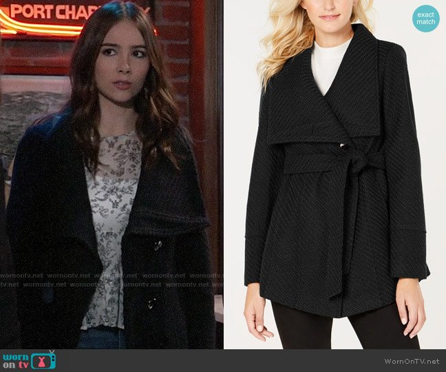 INC International Concepts Textured Wrap Coat  worn by Molly Lansing-Davis (Haley Pullos) on General Hospital