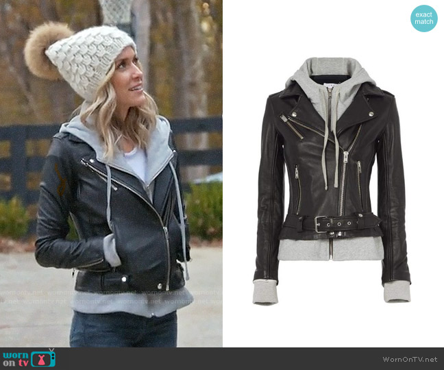IRO Harper Combo Jacket worn by Kristin Cavallari  on Very Cavallari