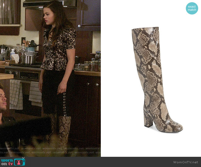 Jeffrey Campbell Bandera Knee High Boots worn by Maggie Vera (Sarah Jeffery) on Charmed