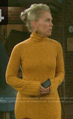 Jennifer's yellow sweater dress on Days of our Lives
