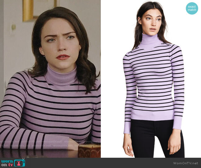 JoosTricot Striped Turtleneck Sweater worn by Cara Bloom (Violett Beane) on God Friended Me