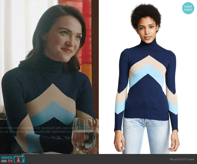 JoosTricot Chevron Sweater worn by Cara Bloom (Violett Beane) on God Friended Me