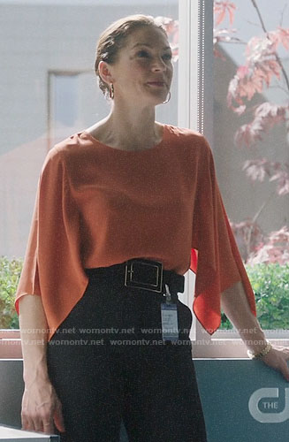 Julia's orange blouse on Charmed